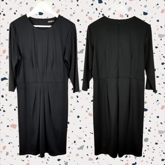 J. McLaughlin Pleated Long Sleeve Midi Dress